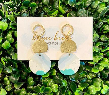 Blue Wave Clay Earrings
