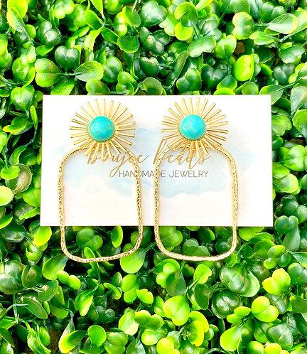 Turquoise Starburst Earrings