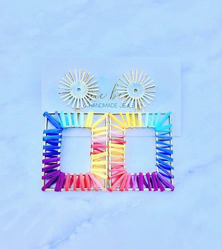 Rainbow Starburst Earrings