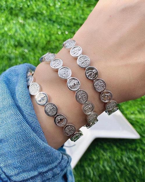 Boujee Blessing Cuff Bracelet - Silver