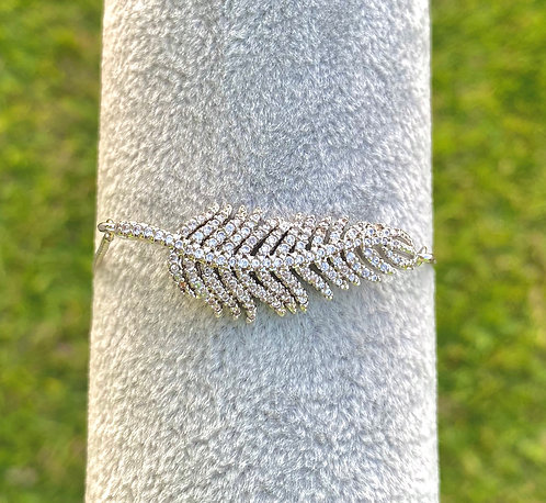 Silver Light as a Feather Bracelet