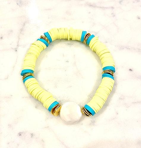 Pastel Yellow Heishi Bracelet