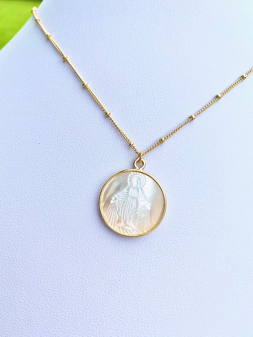 Miraculous Mary - Mother of Pearl Necklace