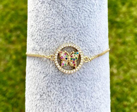 Multicolor Butterfly Bracelet