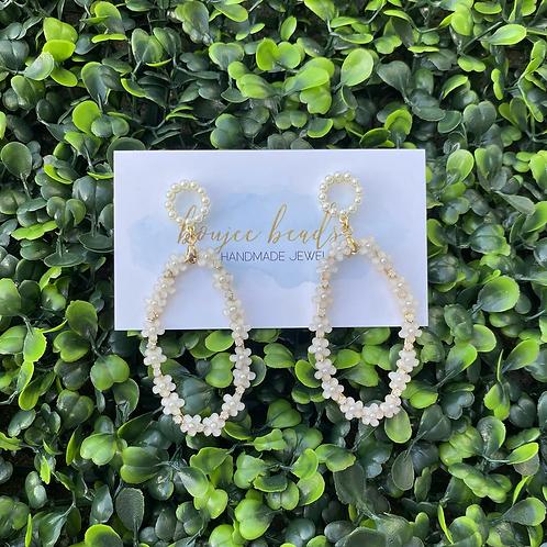 Daisy Pearl Earrings