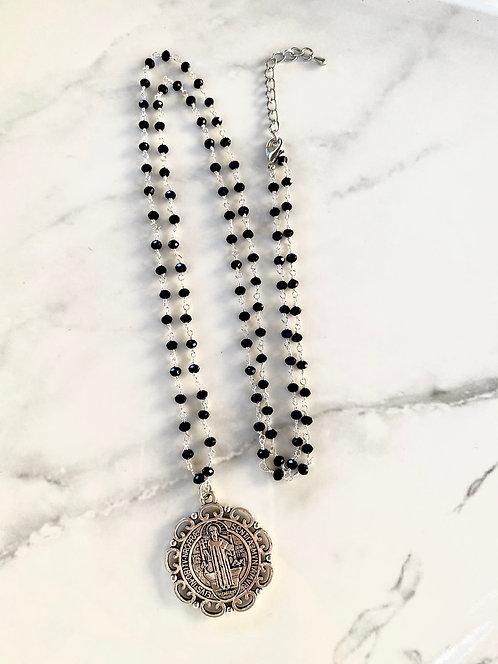 St. Benedict Necklace - Black