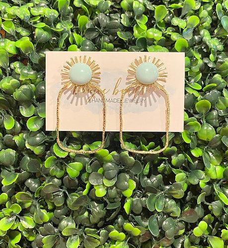 Summer Dottie Earrings - Mint