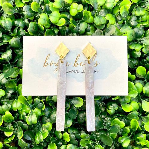 Lavender Opal Stick Earrings