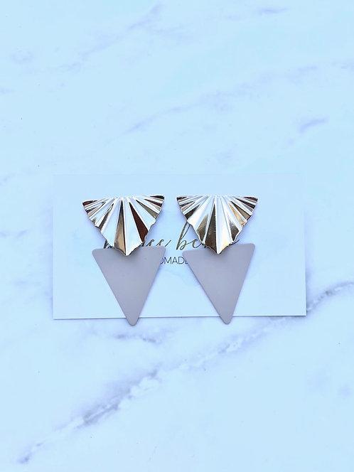 Georgia Geometric Taupe Earrings