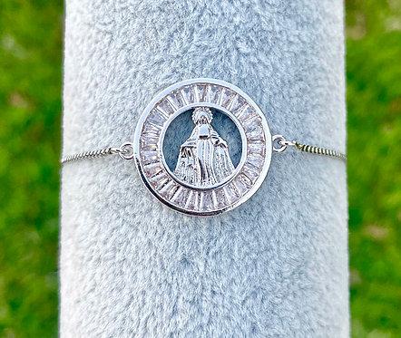 Miraculous Mary Adjustable Bracelet - Silver