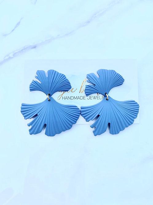 Blue Jean Petal Earrings