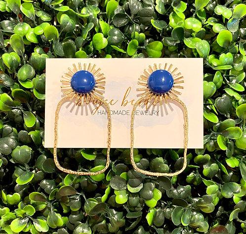 Summer Dottie Earrings - Royal