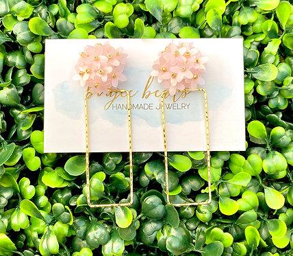 Blush Sequin Flower Earrings