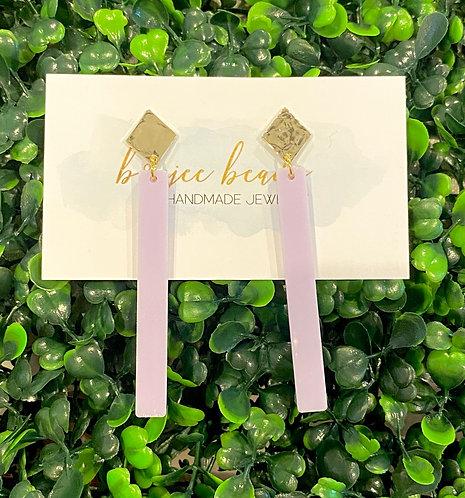 Lavender Maddie Stick Earrings