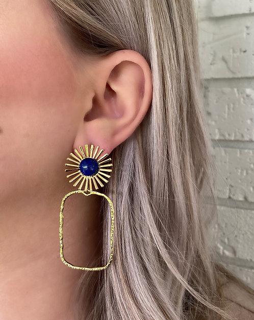 Brynn Starburst Earrings - Lapis Blue