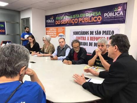 SP: Frente Paulista em Defesa do Serviço Público se reúne antes do ato, Fessp-Esp esteve presente