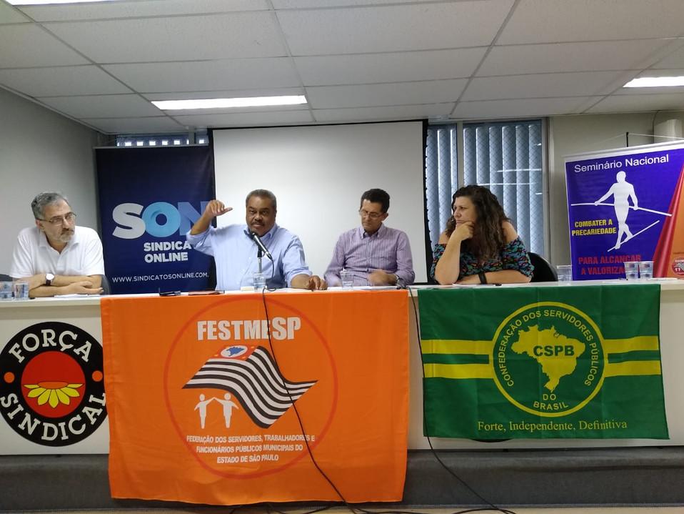 Presidente do SindServ participa do Seminário Nacional 'Combater a Precariedade para Alcançar a Valo