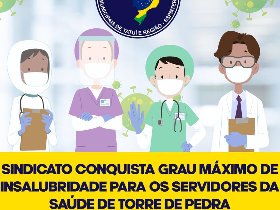 Sindicato consegue grau máximo de insalubridade para servidores da saúde de Torre de Pedra