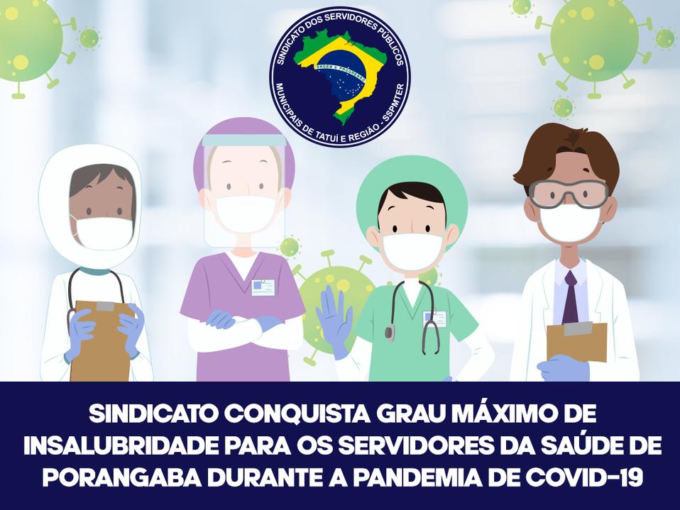 Sindicato consegue grau máximo de insalubridade para Servidores da Saúde de Porangaba durante a COVI