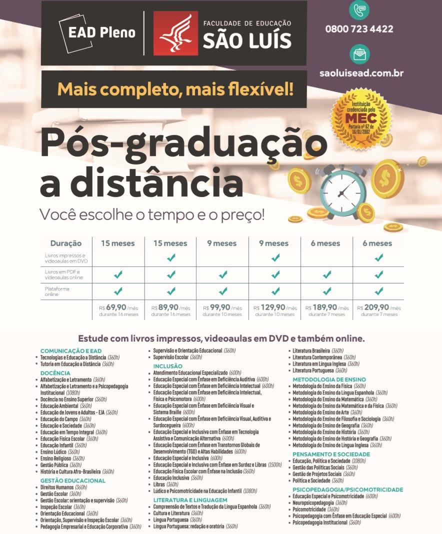 Faculdade São Luís e Centro Universitário Unifacvest têm condições especiais em EAD
