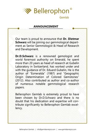 Dr. Dietmar Schwarz Chief gemmologist