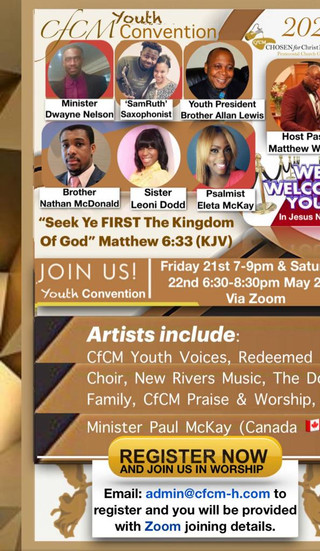 CfCM Youth Convention 2021