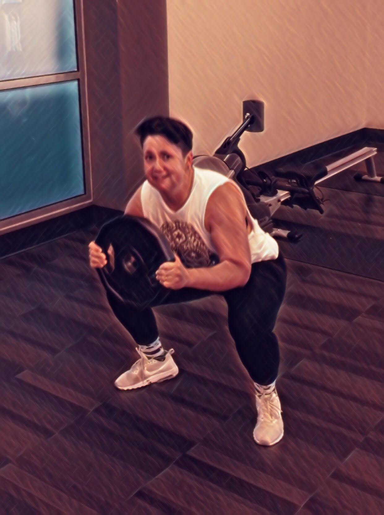 Super Fitness Training Client Squat