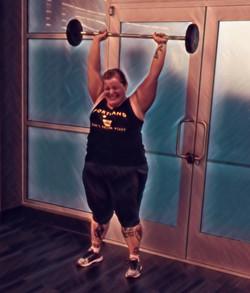 Super Fitness Training Client Press