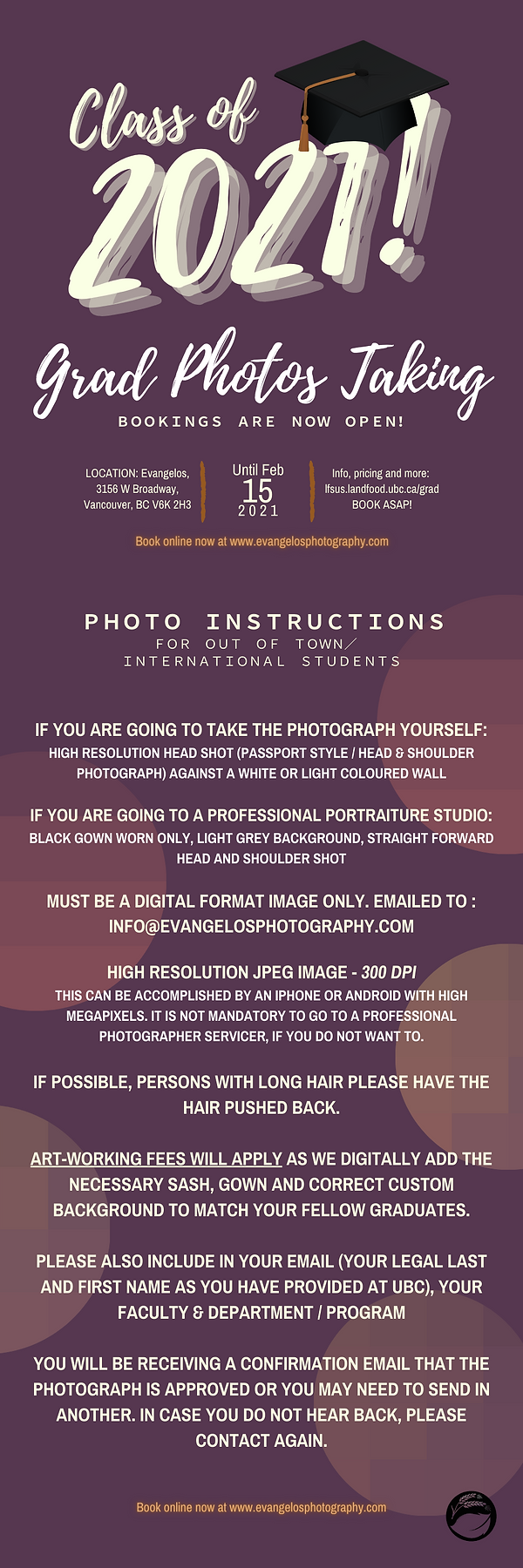 If you are going to take the photograph