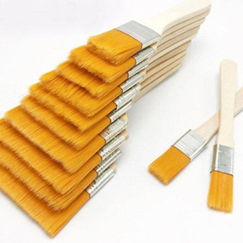 12pcs / Set brocha decoración, Nylon Gouache, mangos  madera
