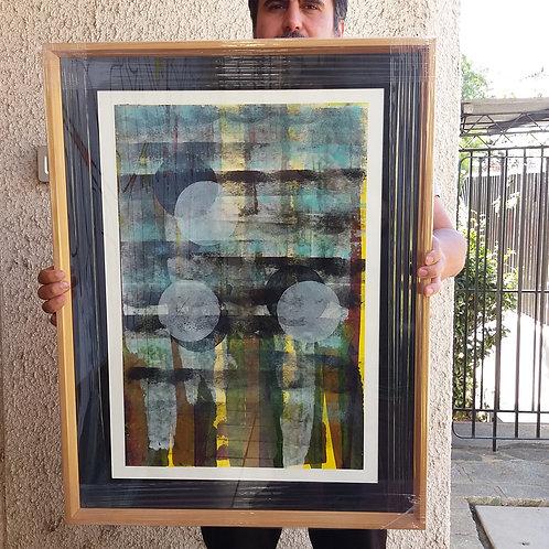 Tres Lunas, 61x80, acrílico