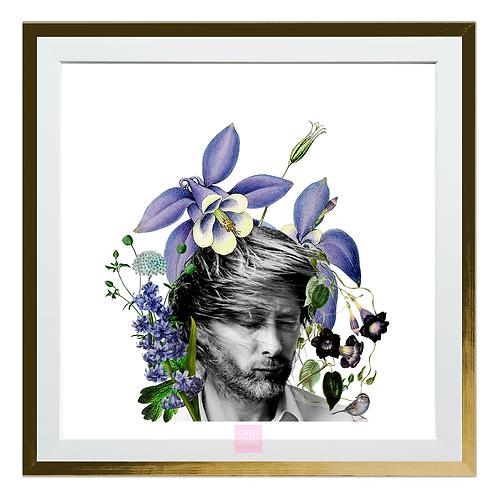 Collage digital Thom Yorke, 30x30