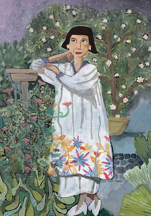Florine en el jardín, 42x60