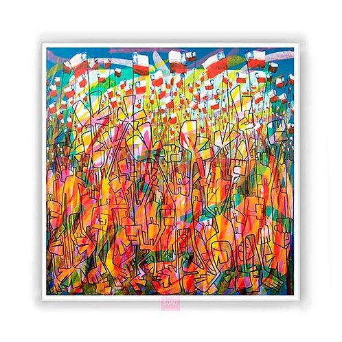 Unidos en la Esperanza, 61x61