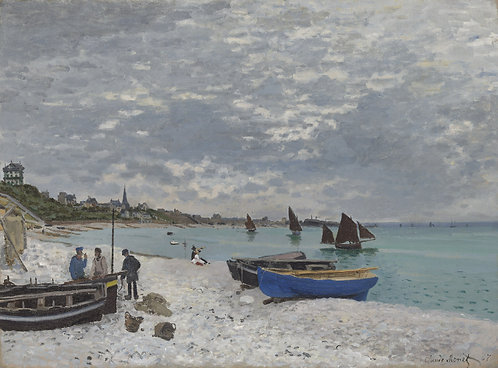 La playa de Sainte-Adresse, Claude Monet