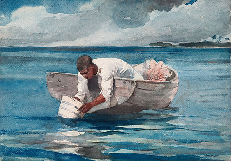 El abanico de agua, Winslow Homer