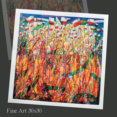 1 canvas ícono, 30x30 Print Art Giclée