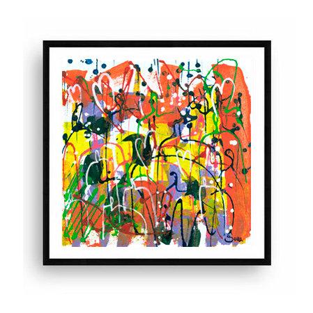 Explosión de Amor, 61x61 Print Art Giclée