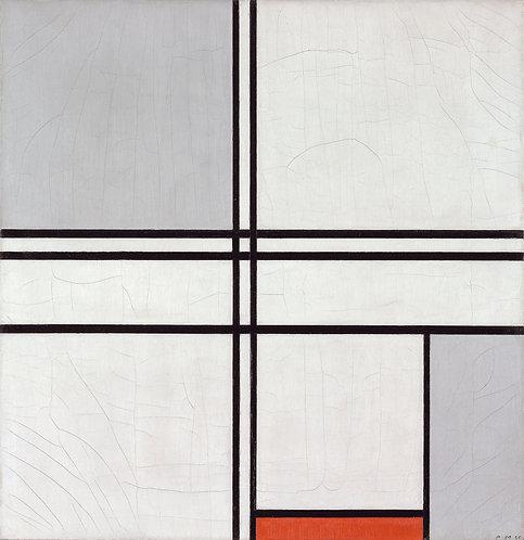 Composición (No. 1) Gris-Rojo, Piet Mondrian