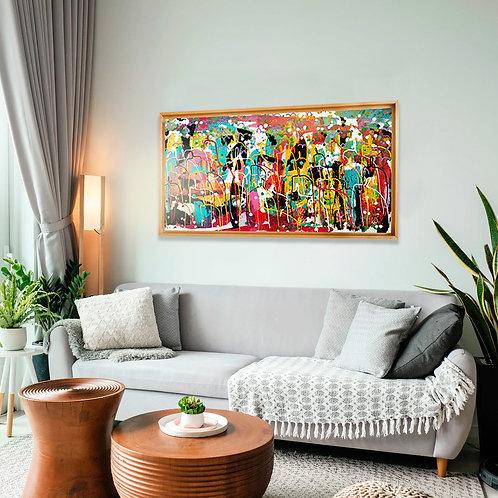Diversidad, canvas intervenido 50x100