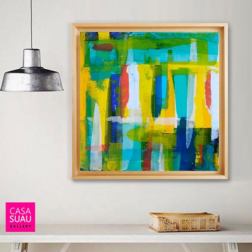 Abstracción color, 60x60 c/marco