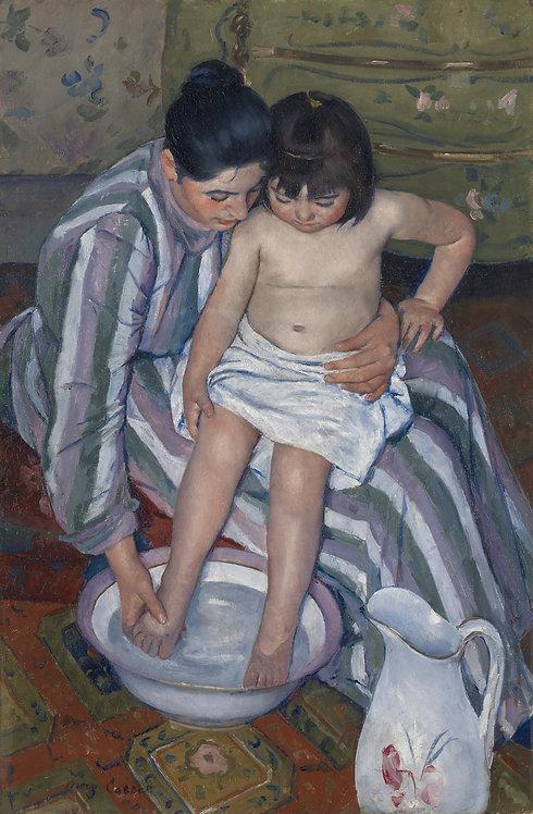 El baño del niño, Mary Cassatt