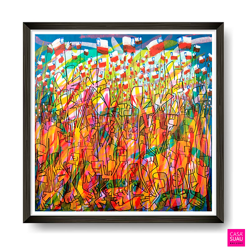 Unidos en la Esperanza, 61x61 Print Art Giclée