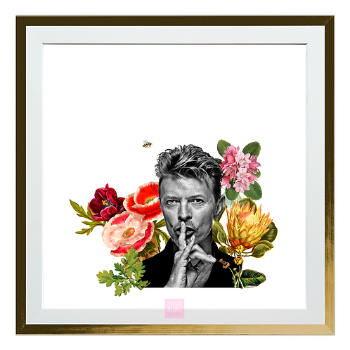 Collage digital Bowie, 30x30