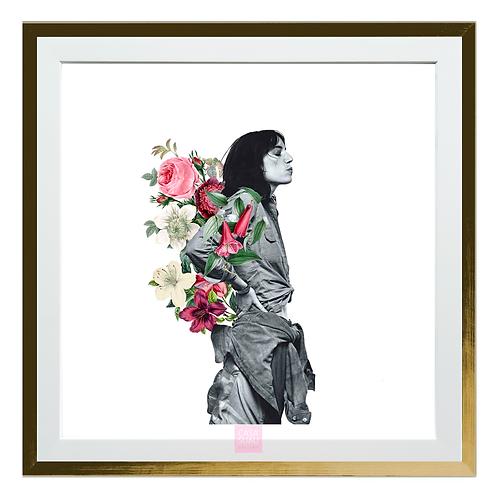 Collage digital Patti Smith, 30x30