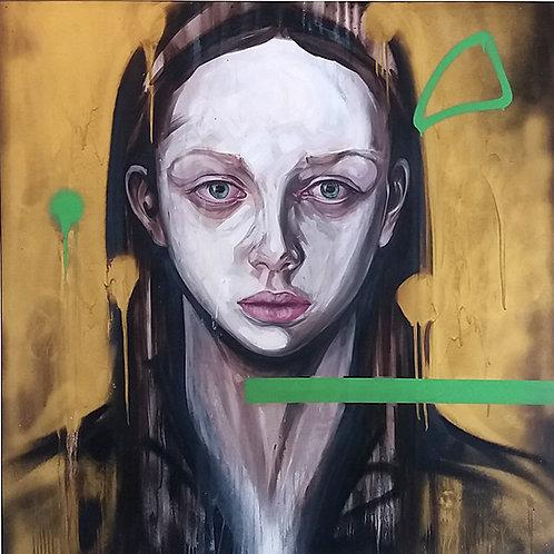 Dardo, Retrato en Absenta, 120x120