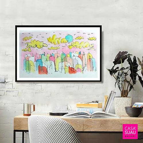 Aires de primavera , 40x60 Print Art Giclée