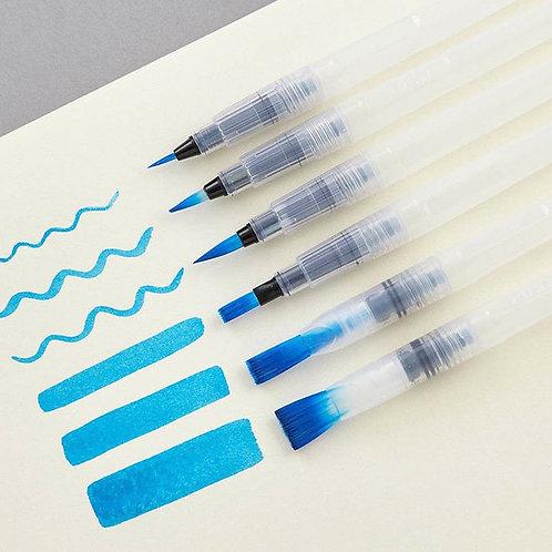 6 unids / set pincel lápiz de color de agua