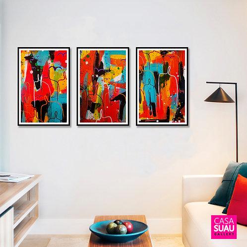 Trio Diversidad, 40x60, c/ marcos