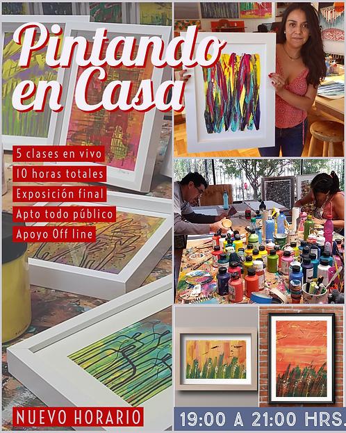 """Taller Online """"Pintando en Casa"""", 5 clases."""